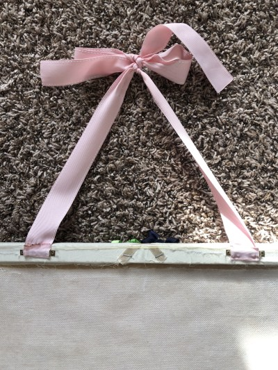 DIY hair bow holder back