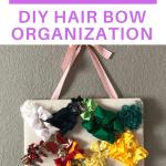 simple girl hair bow organization