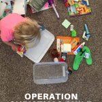 Operation christmas child shoe box activity