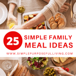 25 family meals ideas