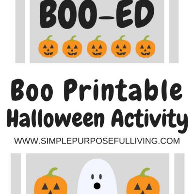 Boo Your Neighbors Halloween Activity
