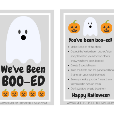 Boo Your Neighbors Halloween Activity