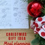 holiday gift idea meal planning journal