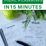 Family weekly meal planning in 15 minutes