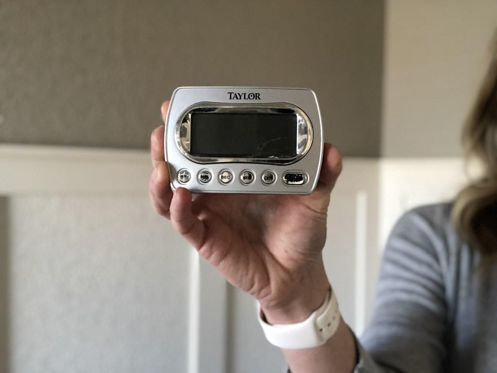 set a timer - holding a timer