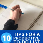 10 tips for a productive to do list