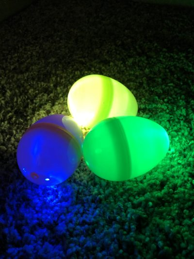 DIY glow easter egg hunt