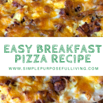 easy breakfast pizza with eggs recipe