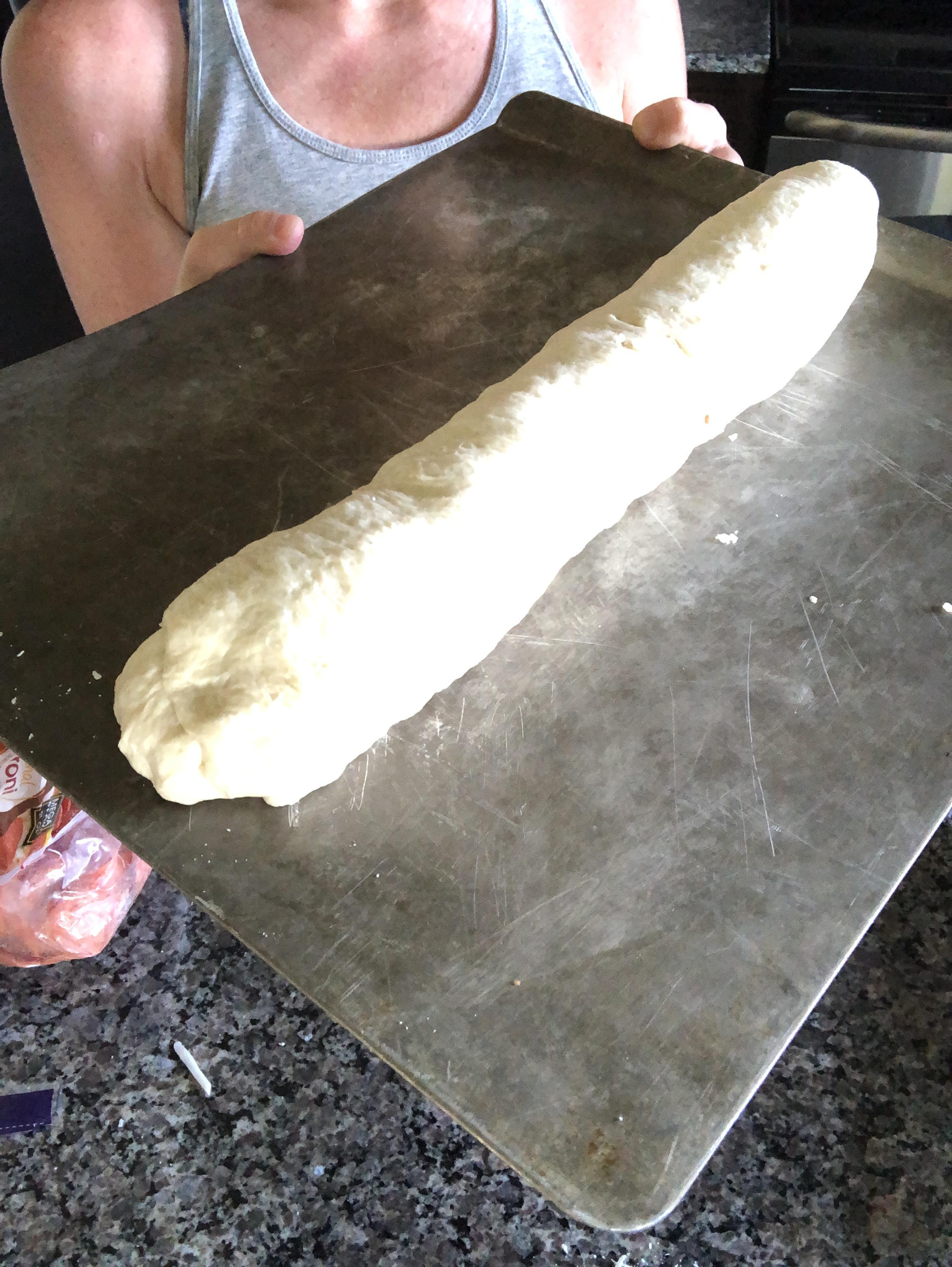 pizza bread ready to bake