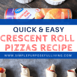 quick and easy crescent roll pizza recipes