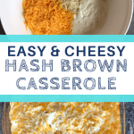 easy and cheesy hash brown casserole recipe pin