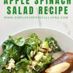 quick and easy apple spinach salad recipe