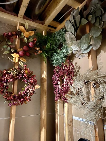 after christmas organization tips wreath storage