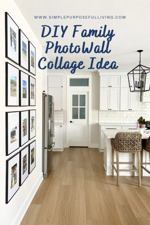 DIY family photo wall collage idea