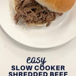 easy slow cooker shredded beef sandwiches