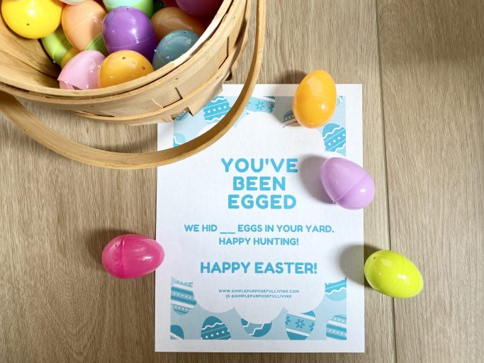 You've been egged Easter activity