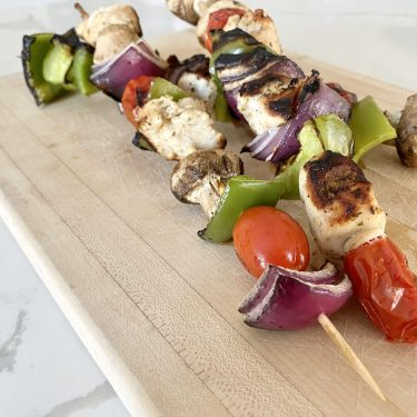 easy grilled chicken and vegetable kabobs