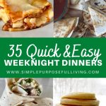 35 quick and easy weeknight dinner ideas