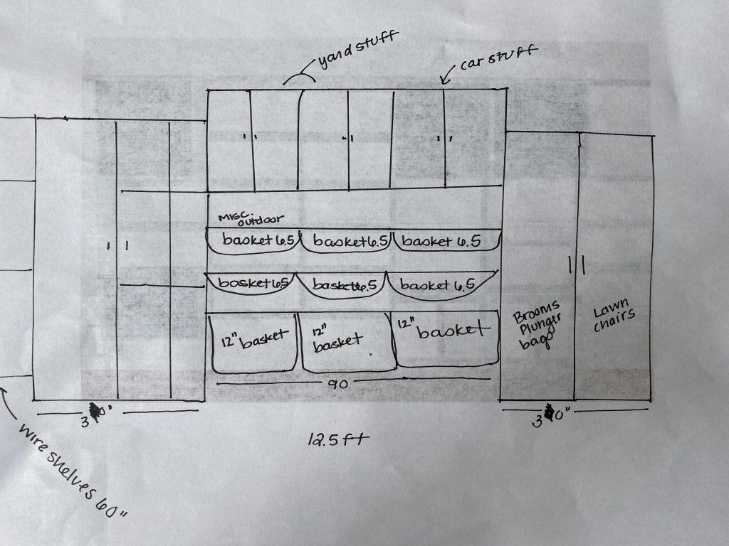 custom garage storage system layout kitchen and bath company