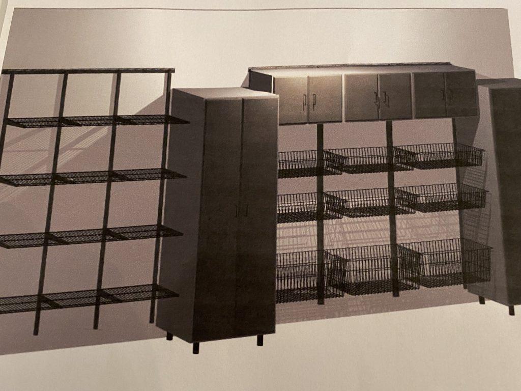 final custom garage organization system layout