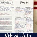 4th of july easy menu ideas