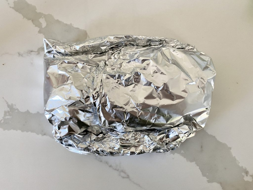 campfire foil packet ready to cook