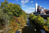 Cuyahoga River and old flour mill - Kent Ohio