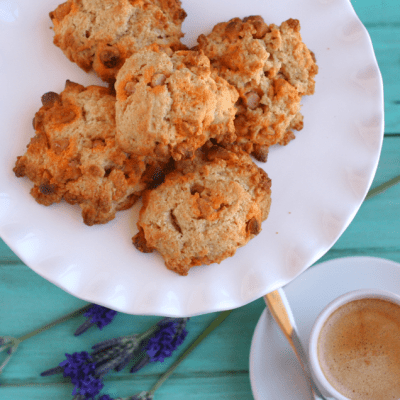 Butterscotch Drop Scones