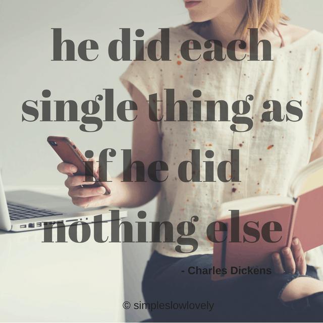Single tasking!