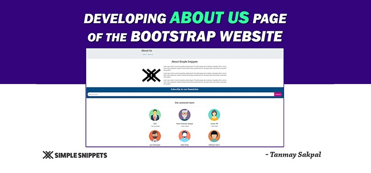 about us page bootstrap - featured image