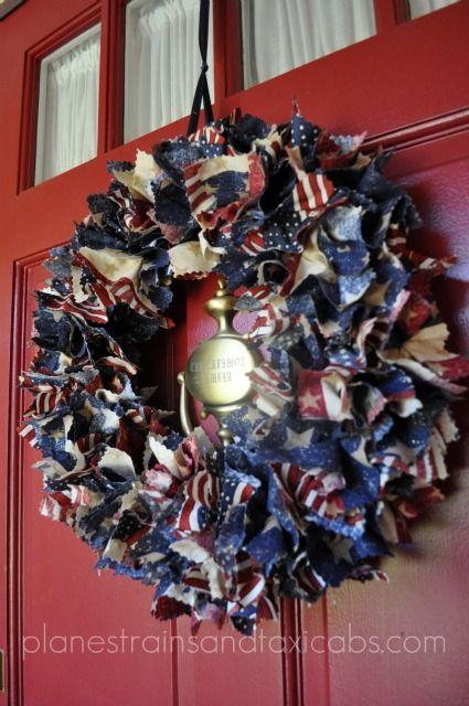 Patriotic Door Wreaths Tutorial 3 Simple Sojourns