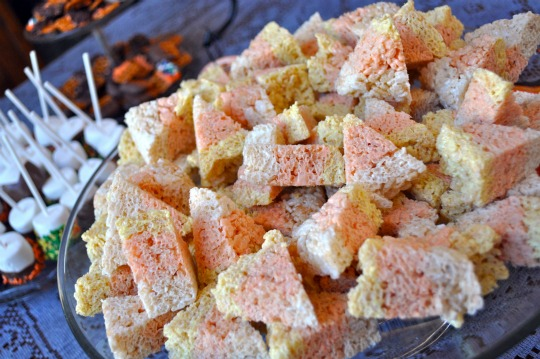 Candy Corn Rice Krispie Treats - Simple Sojourns