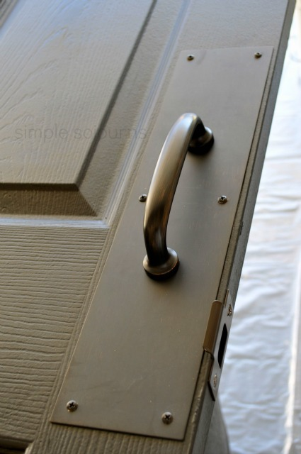 DIY Old Door Headboard - Simple Sojourns