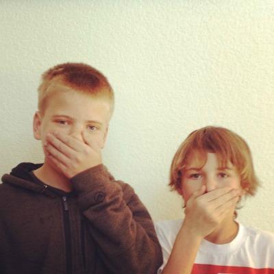 Day 26 - Quiet! Instagram Rise filter #boyswillbeboys #grandkidsarethebest #fmsphotaday