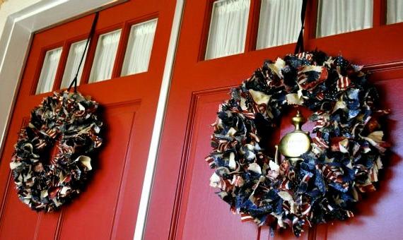 Patriotic Door Wreaths Tutorial Simple Sojourns