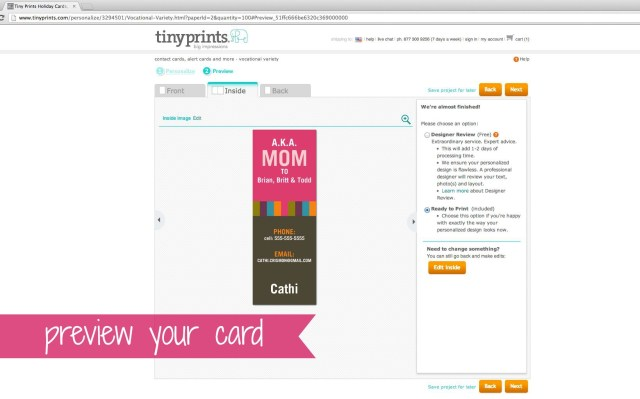 Tiny Prints Mommy Contact Cards 6 | Simple Sojourns