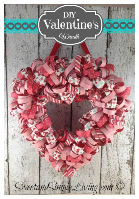 Valentines Day Heart Wreath