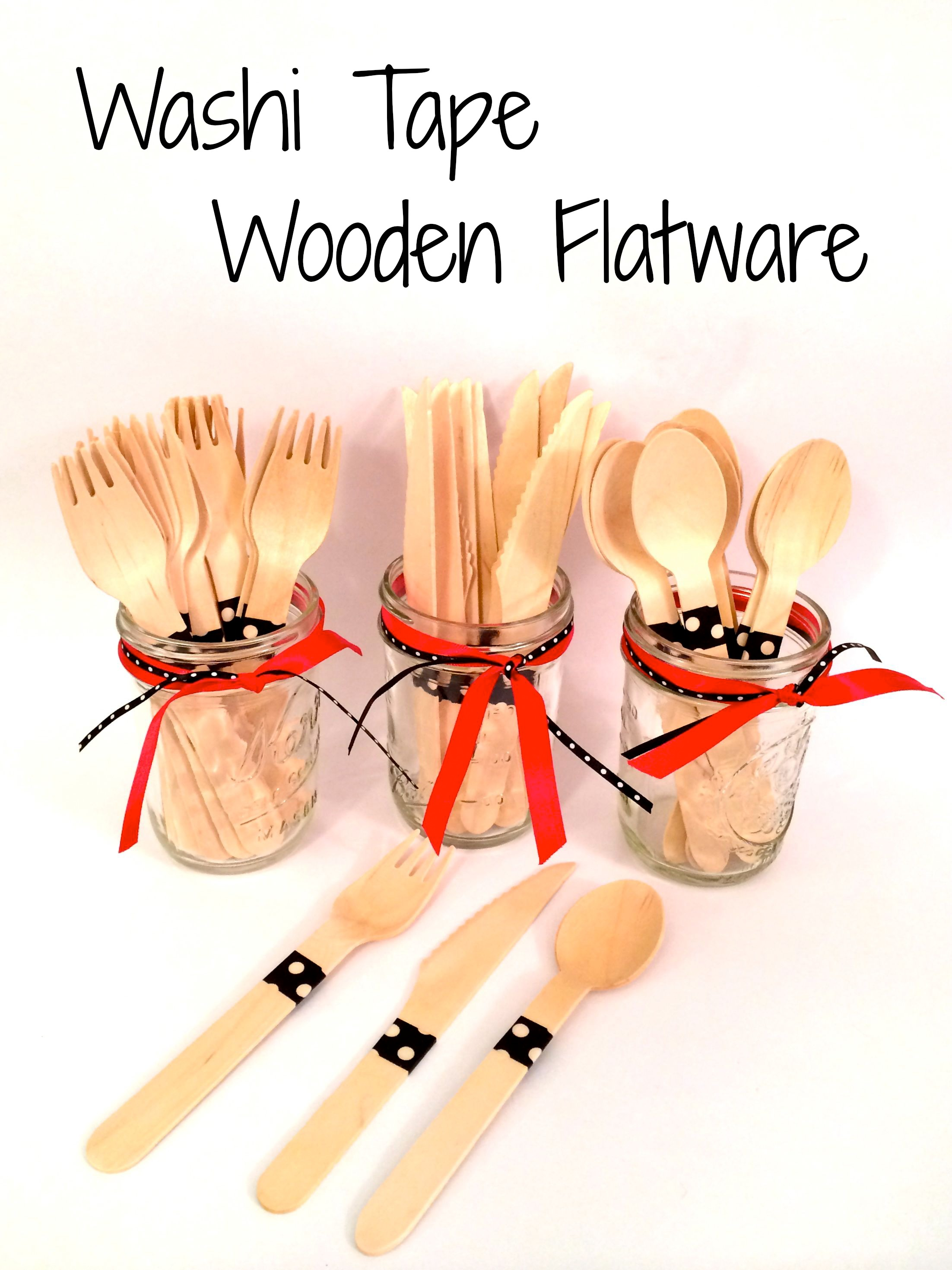Washi Tape Wooden Flatware - Simple Sojourns