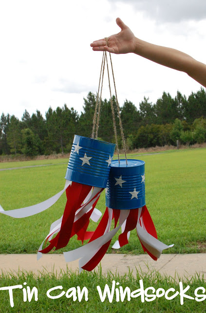 4th of July Tin Can Wind Socks