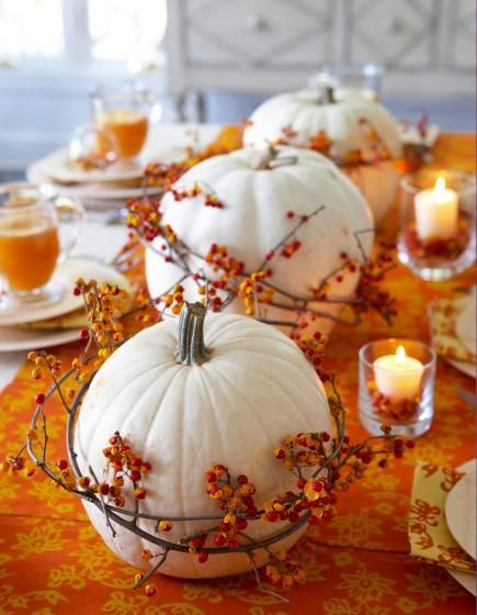 Pumpkins with Berries