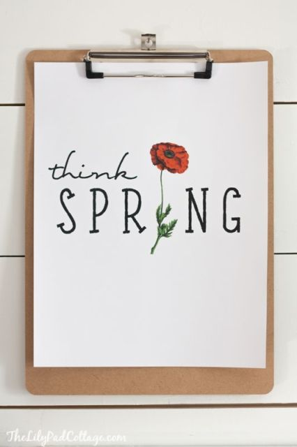 Think Spring Printable