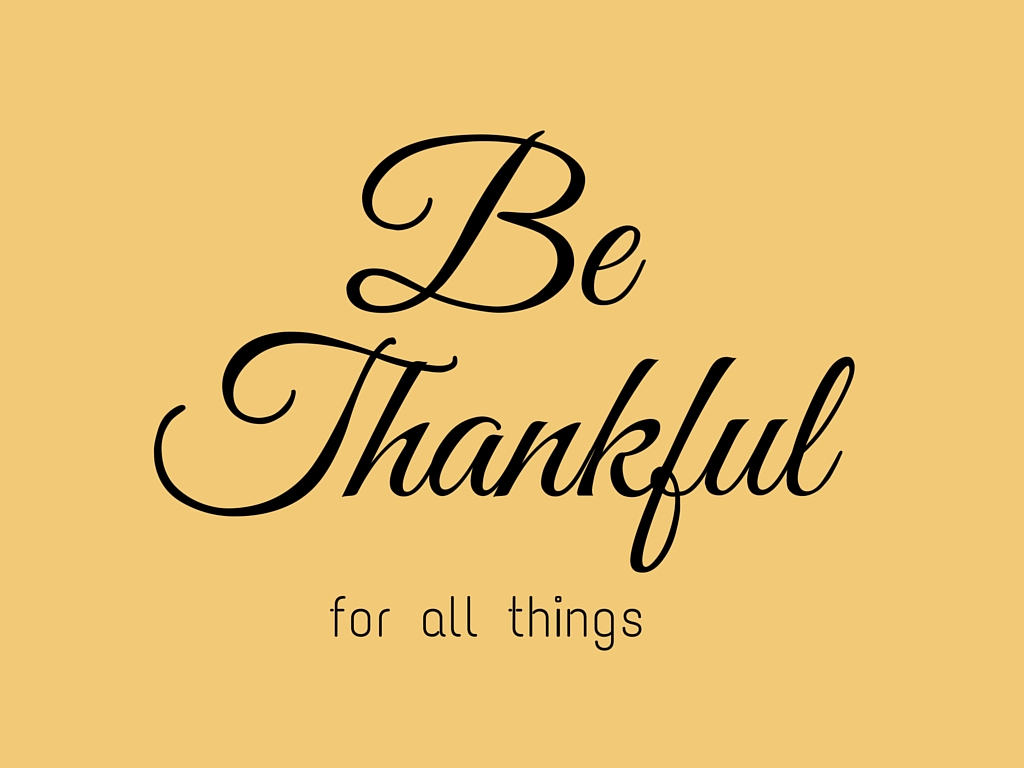 Be Thankful - Simple Sojourns
