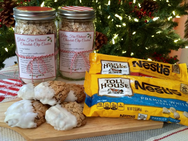 Nestle Gluten Free Oatmeal Chocolate Chip Cookies in a Jar - Simple Sojourns
