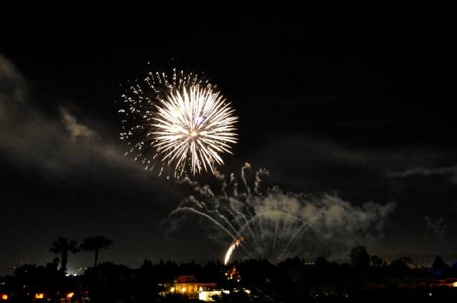 Disneyland Hotel Fireworks from the balcony Sojourns.jpg