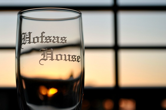 Hofsas House Sparkling Cider at Sunset - Simple Sojourns
