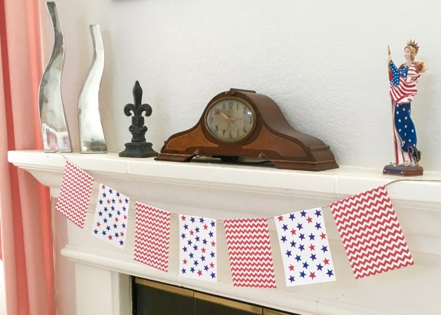 Patriotic Printable Bunting - Simple Sojourns