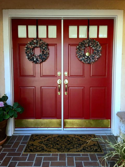 Unhinge Hardware Red Doors - Simple Sojourns