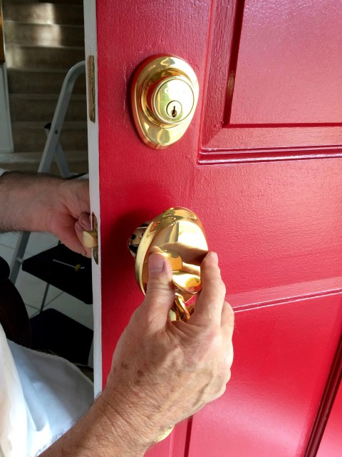 Unhinge Installing Exterior Handle - Simple Sojourns