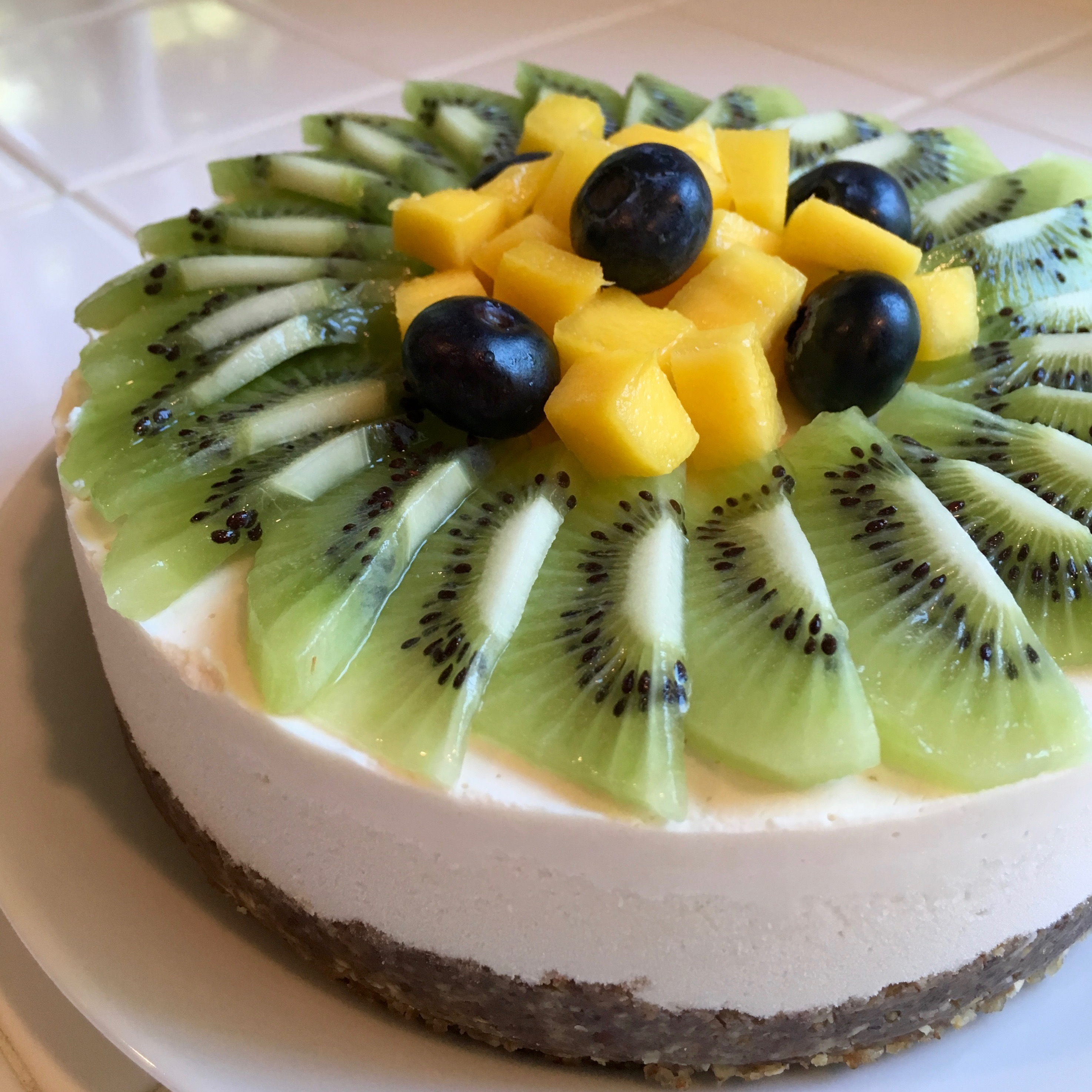 Vegan Cheesecake with Fresh Fruit - Simple Sojourns