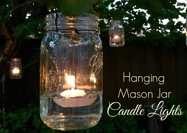 Hanging Mason Jar Candle Lights - Simple Sojourns
